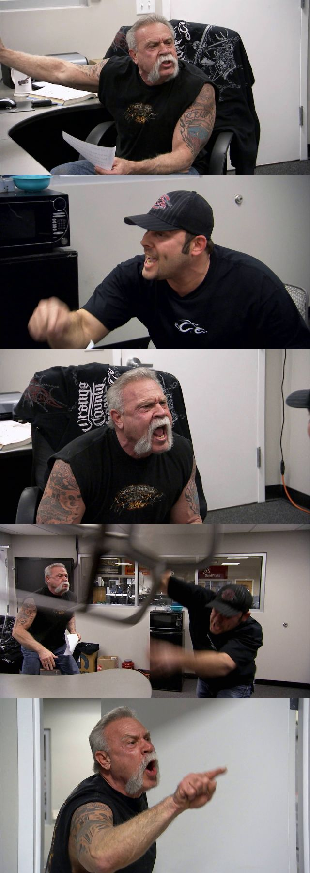 American Chopper Argument Blank Meme Template