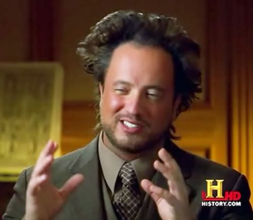 Ancient Aliens Blank Meme Template