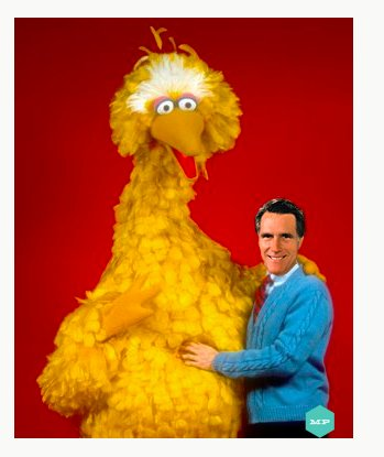 Big Bird And Mitt Romney Blank Meme Template