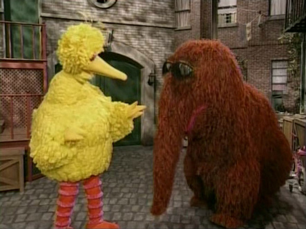 Big Bird And Snuffy Blank Meme Template