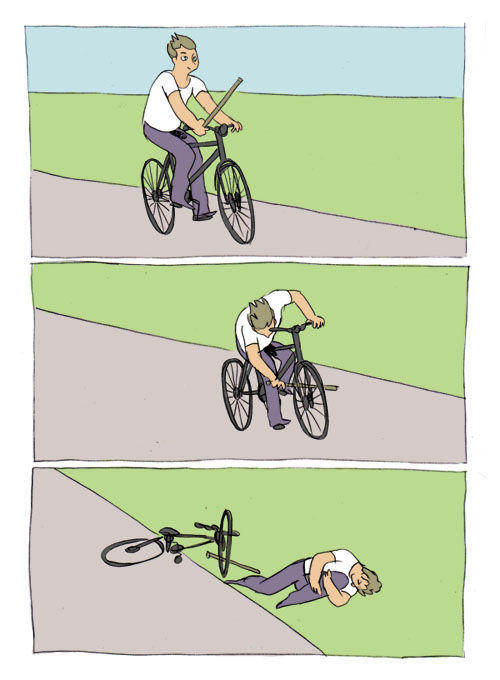 Bike Fall Blank Meme Template