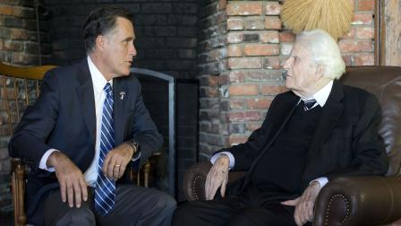 High Quality Billy Graham Mitt Romney Blank Meme Template