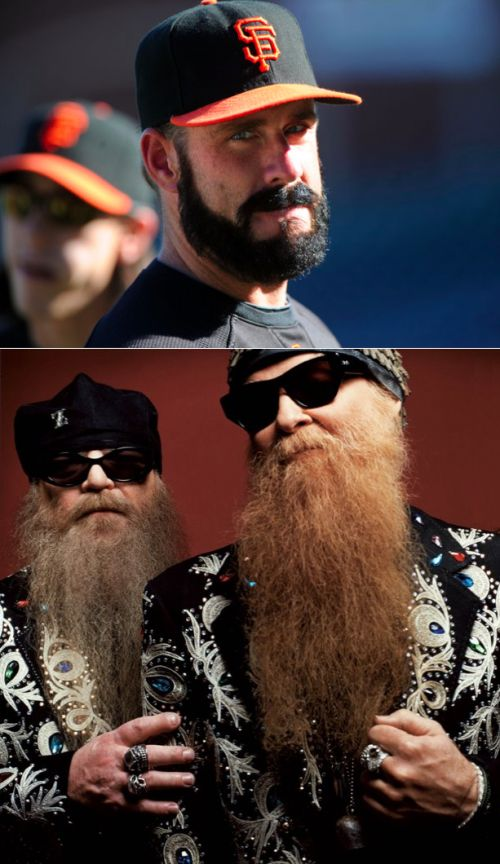 High Quality Brian Wilson Vs ZZ Top Blank Meme Template