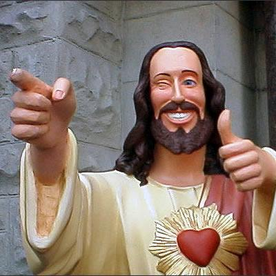 High Quality Buddy Christ Blank Meme Template