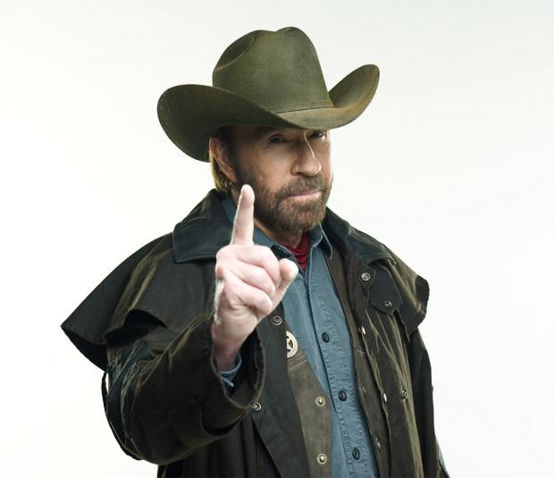 High Quality Chuck Norris Finger Blank Meme Template