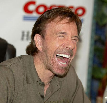 Chuck Norris Laughing Blank Meme Template