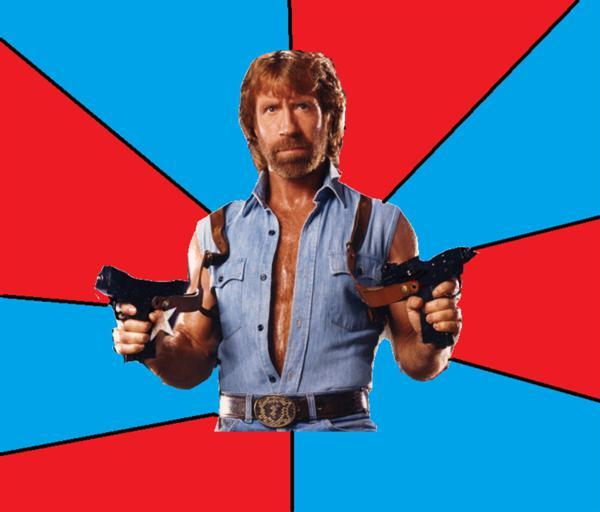 High Quality Chuck Norris With Guns Blank Meme Template