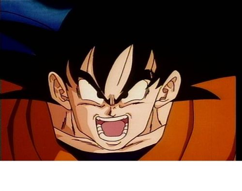 Crosseyed Goku Blank Meme Template