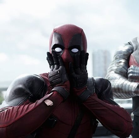 Deadpool Surprised Blank Meme Template