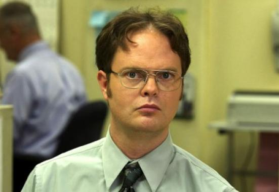 High Quality Dwight Schrute Blank Meme Template