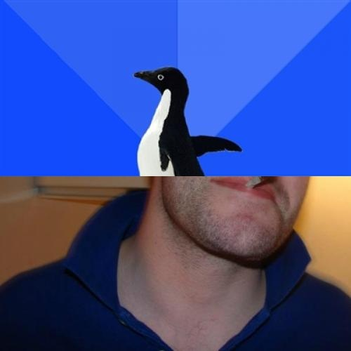 High Quality Good Guy Socially Awkward Penguin Blank Meme Template