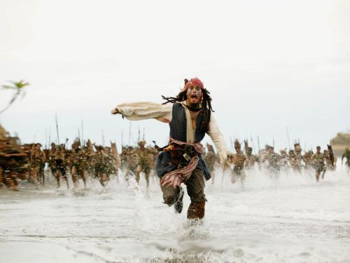 High Quality Jack Sparrow Being Chased Blank Meme Template