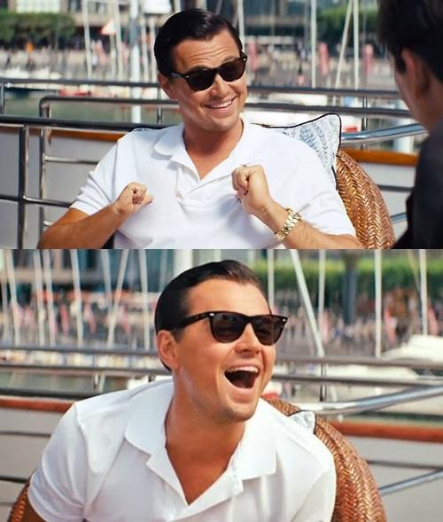 High Quality Leonardo Dicaprio Wolf Of Wall Street Blank Meme Template