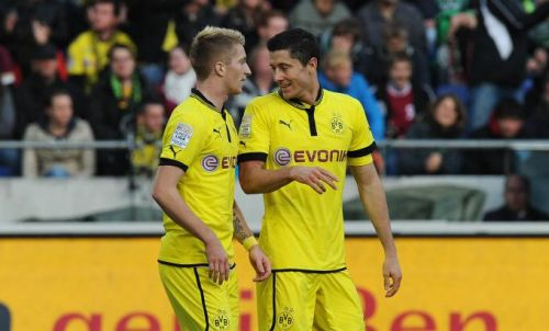 High Quality Lewandowski E Reus Blank Meme Template