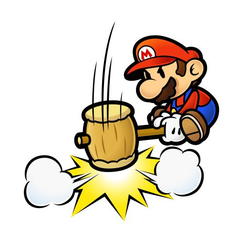 High Quality Mario Hammer Smash Blank Meme Template