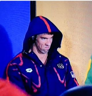 Michael Phelps Death Stare Blank Meme Template