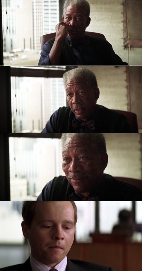 Morgan Freeman Good Luck Blank Meme Template