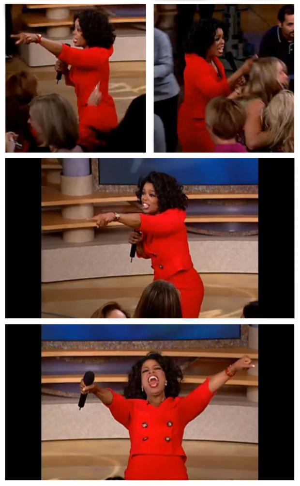 Oprah You Get A Car Everybody Gets A Car Blank Meme Template