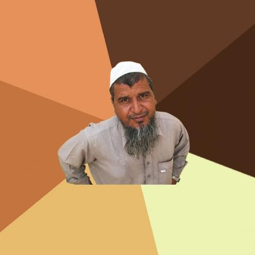 High Quality Ordinary Muslim Man Blank Meme Template