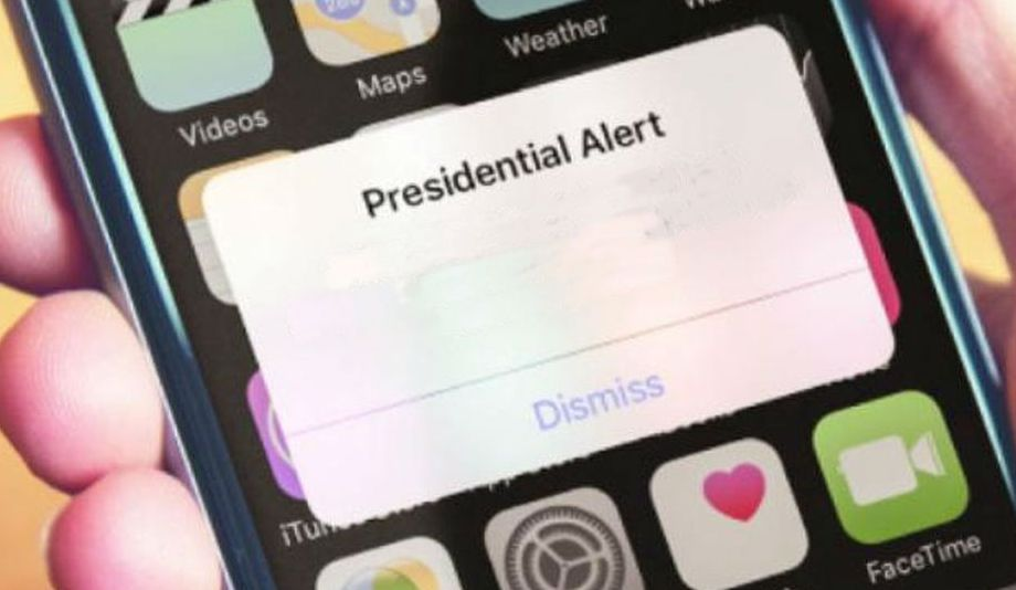 High Quality Presidential Alert Blank Meme Template
