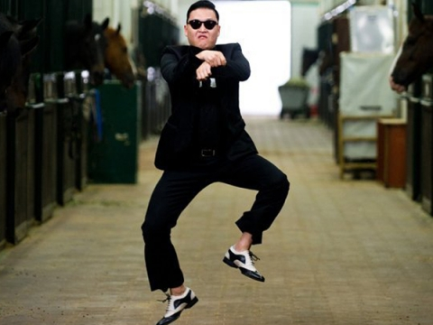High Quality Psy Horse Dance Blank Meme Template