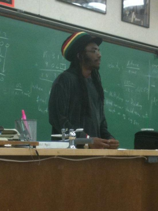 High Quality Rasta Science Teacher Blank Meme Template