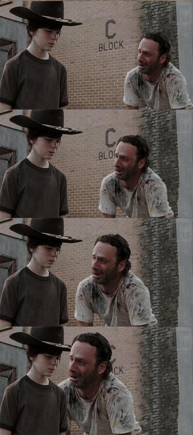 High Quality Rick and Carl Long Blank Meme Template