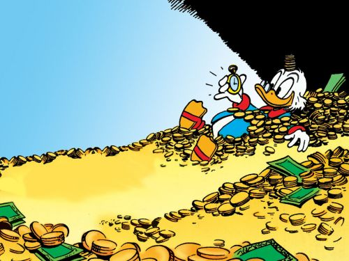 High Quality Scrooge McDuck Blank Meme Template