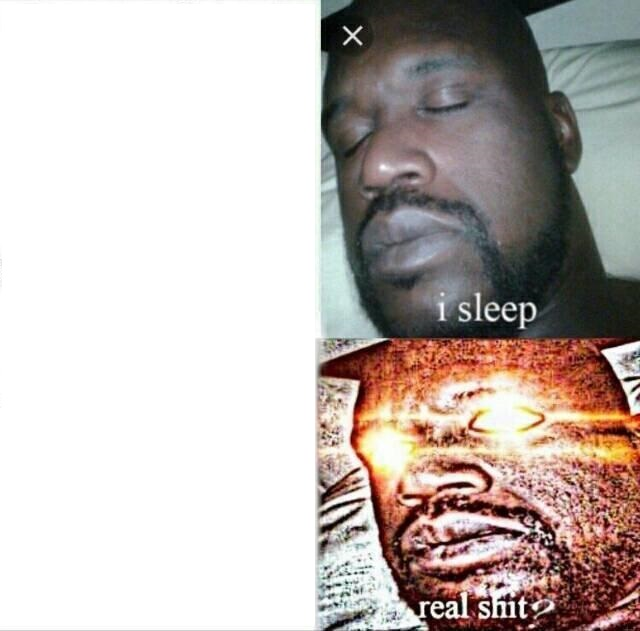 High Quality Sleeping Shaq Blank Meme Template