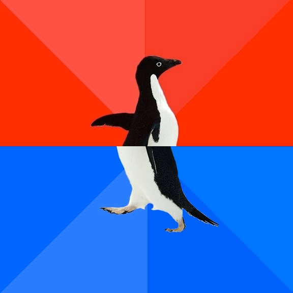 Socially Awesome Awkward Penguin Blank Meme Template