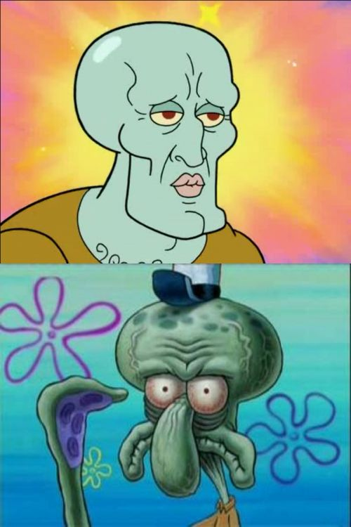 High Quality Squidward Blank Meme Template