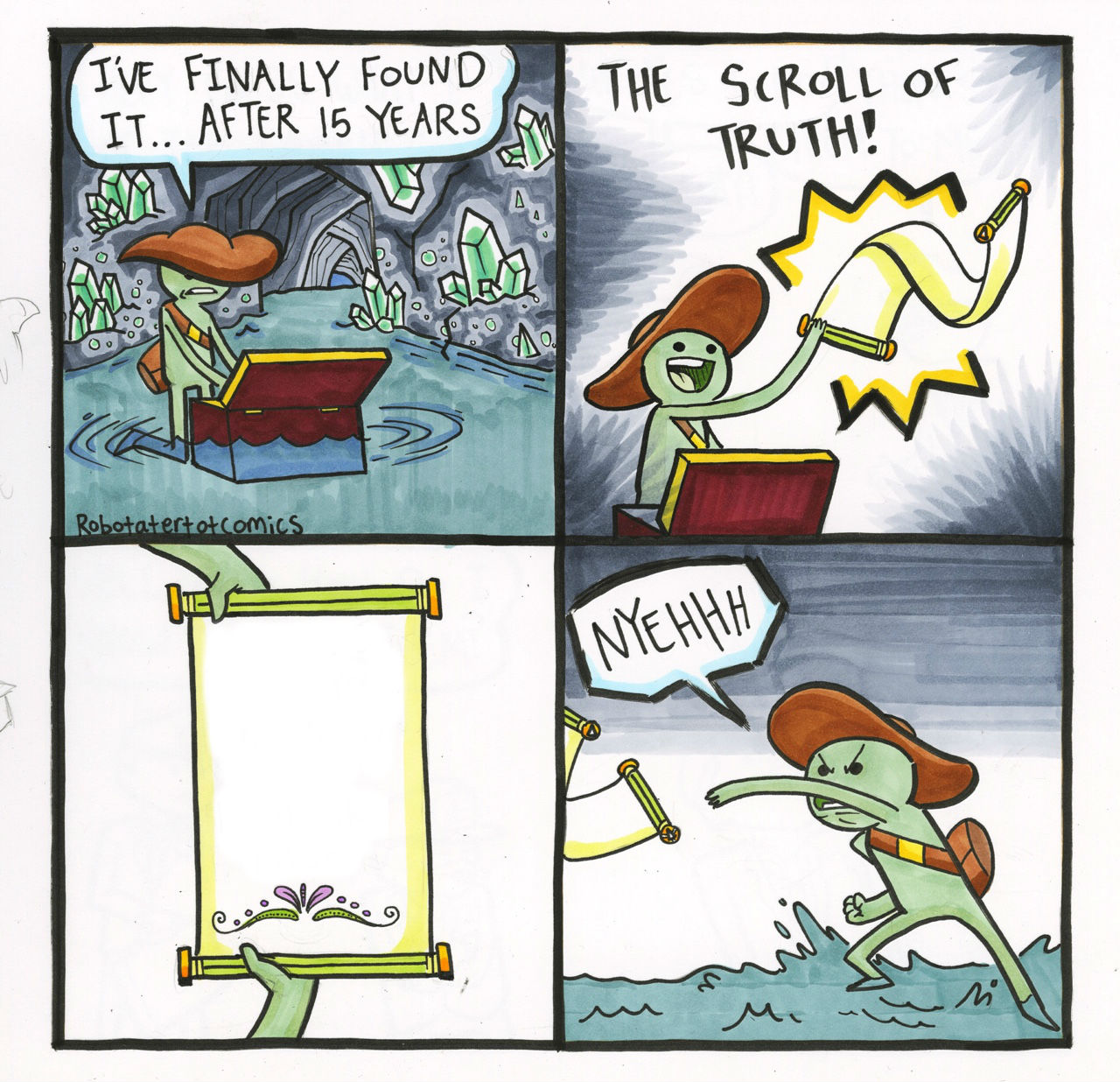 High Quality The Scroll Of Truth Blank Meme Template