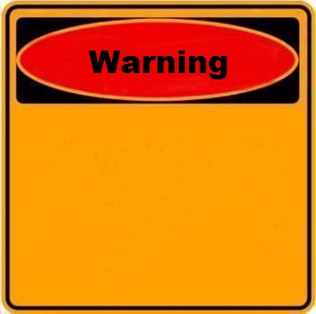 Warning Sign Blank Meme Template