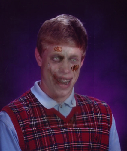 Zombie Bad Luck Brian Blank Meme Template